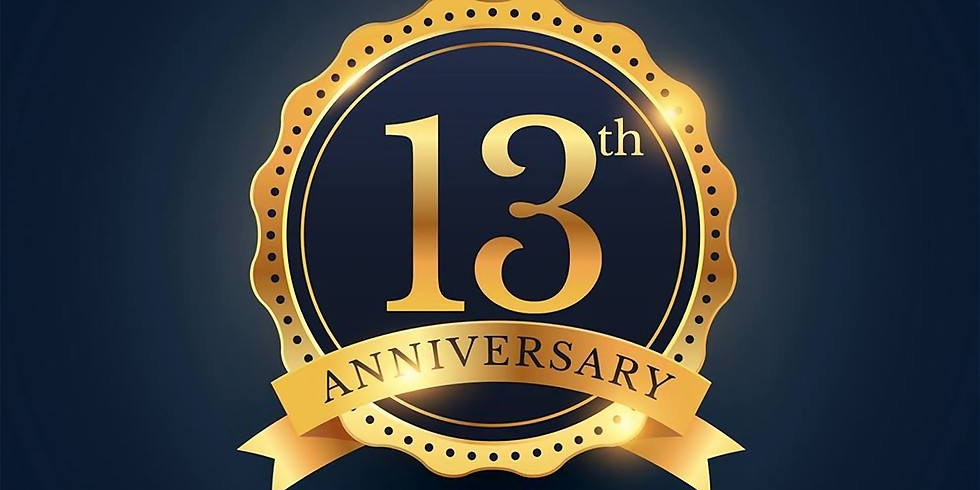 13 Jarig Jubileum