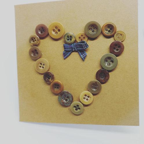 Handmade Button heart cards