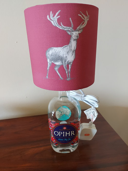 Stag Gin Bottle Lamp