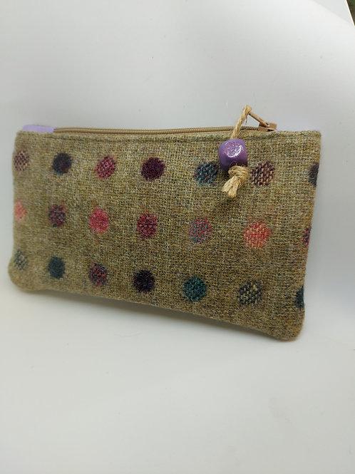Spotty Fabric Pencil Case
