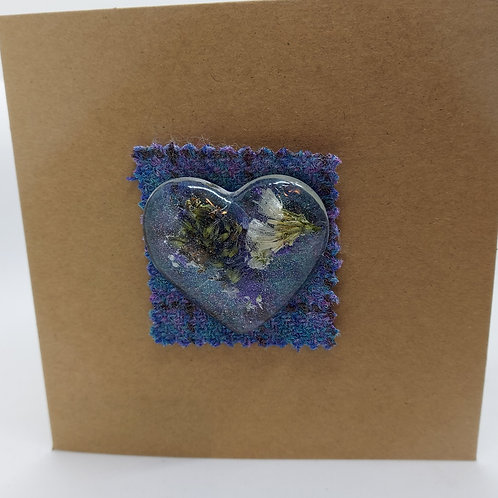 Dried Flower Heart cards