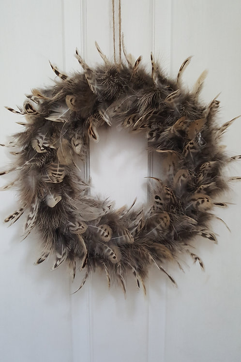 Hen Pheasant Wreath / Wall or Table Decoration