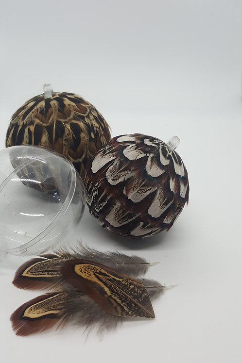 Feather Bauble making kit plus tutorial