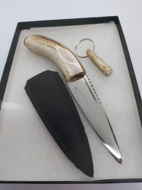 Scottish Antler Sgian Dubh free zip pull