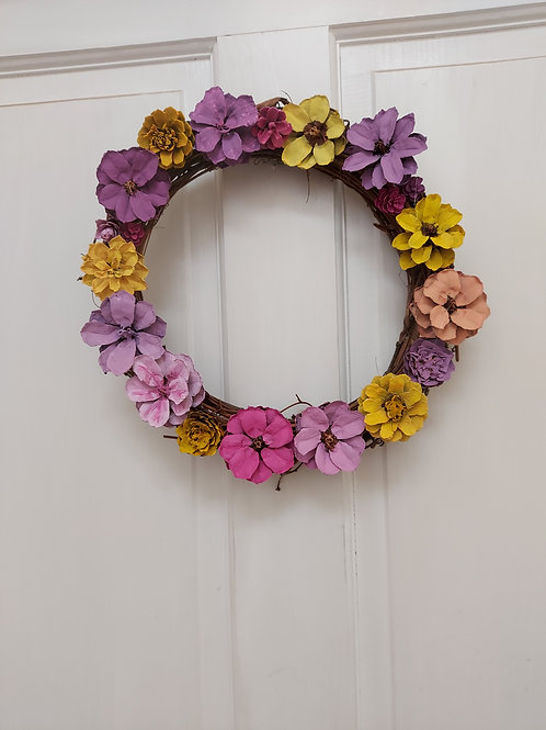 Flower cone wreath