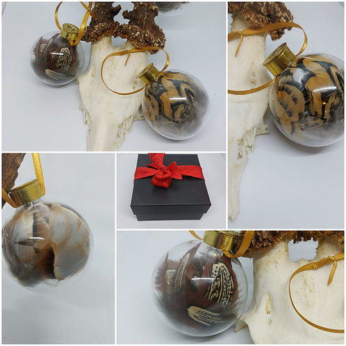Glass and cartridge baubles