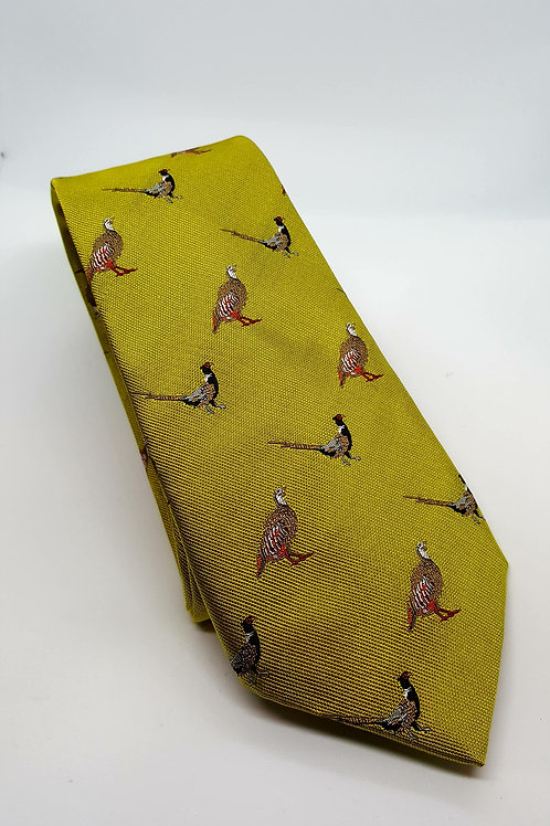 Pheasant & Partridge Designer Silk Ties made in UK