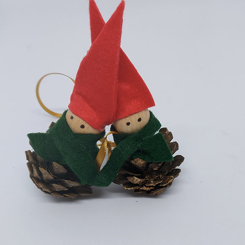 Cone Elf Tree Decorations (pack 2)