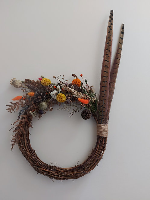 Autumnal Countryside Wreath