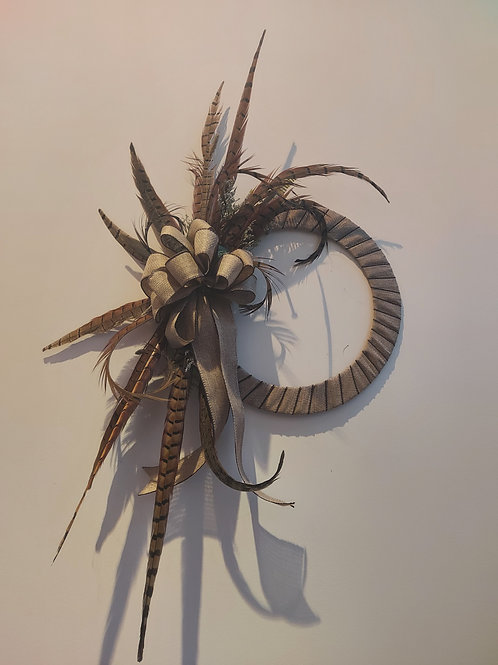 Fancy feather wall or door decoration.