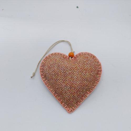 Tweed lavendar filled heart