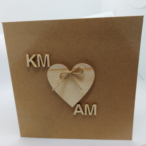 Initial heart cards