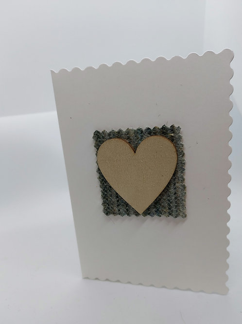 Handmade wooden heart cards