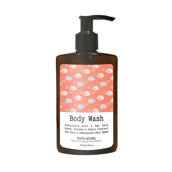 Nocha Himalayan Salt and Sea Salt Body Wash