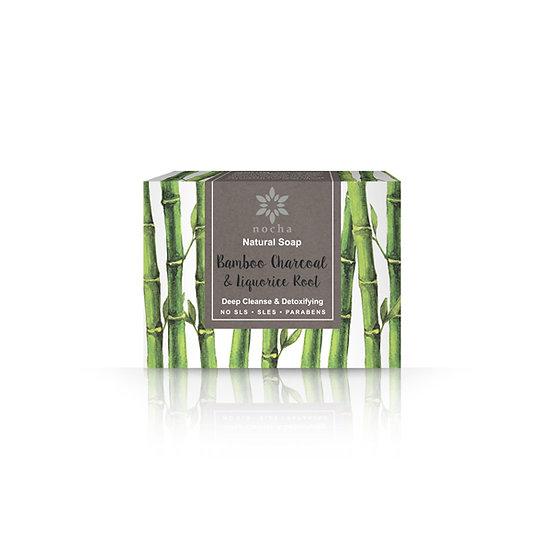 Nocha Bamboo Charcoal and Liquorice Root Soap