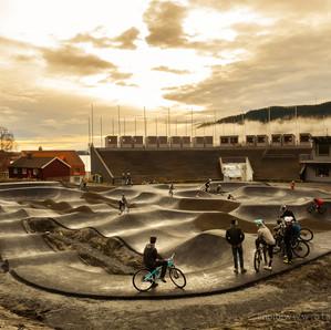 Skandinaviens största pumptrack i Åre