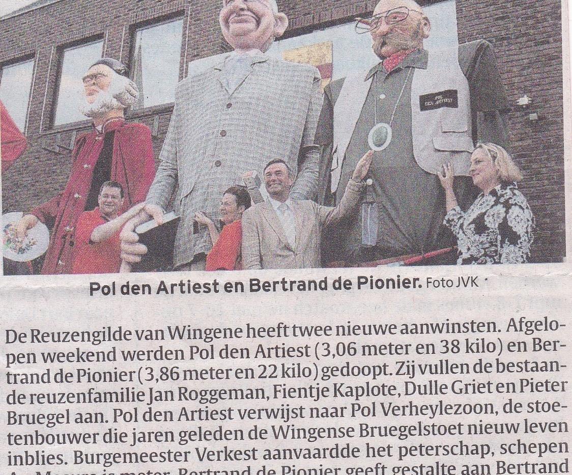 Artikel _Wingene doopt nieuwe reuzen_ 03
