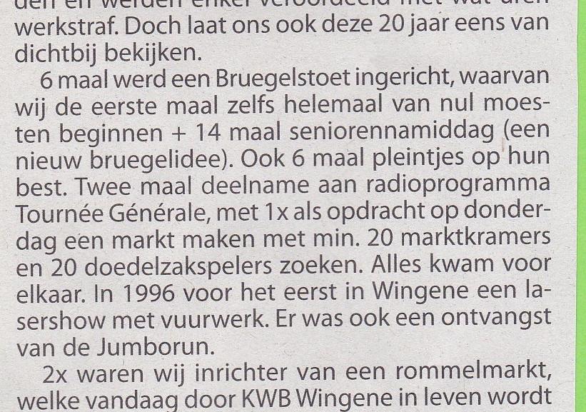 Bruegelcomite Wingene 20 jaar actief 010