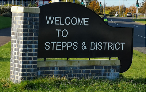 Stepps and district sign.png