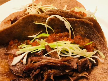 Patience Farm Pulled Pork Tacos