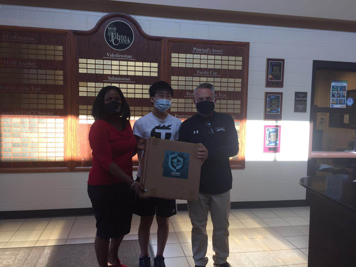 Donation of 500 Masks to Johns Creek HS