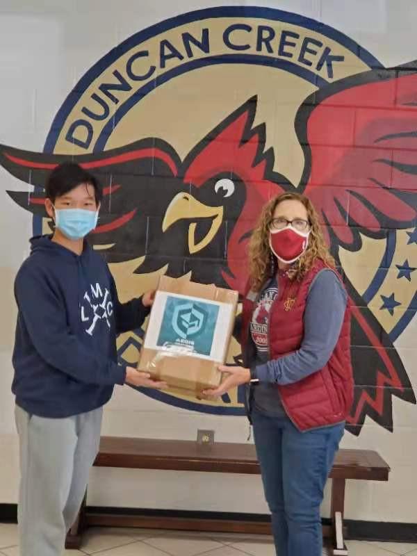 500 Masks Donation to Duncan Creek ES