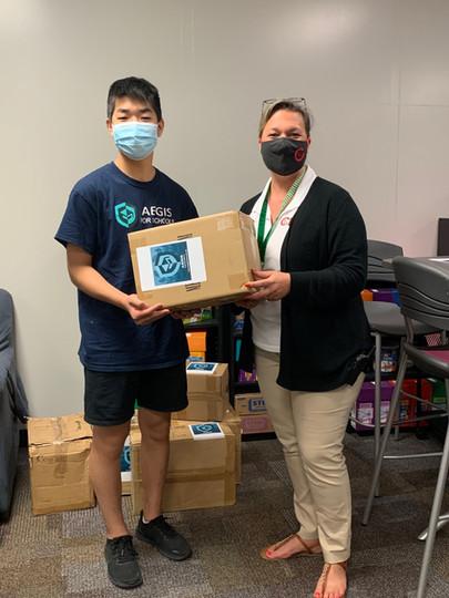 Alan Qiao Donating to Powder Springs