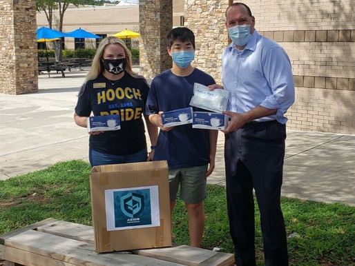 Our First Donation of 600 Masks!