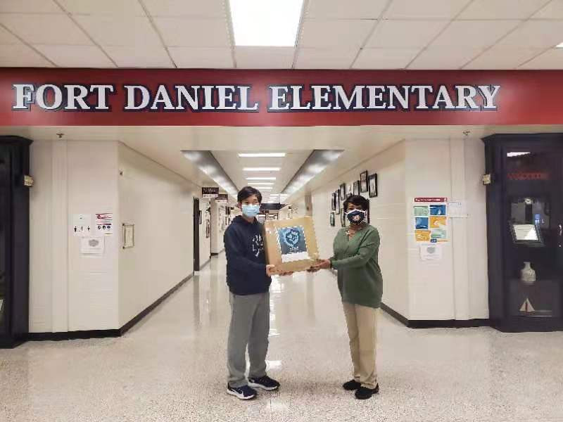 Donating 500 Masks to Fort Daniel ES