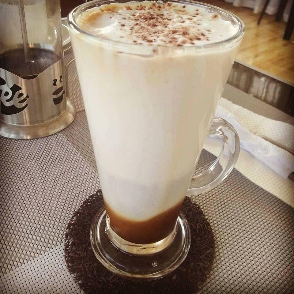 Coffee Latte ala El Pueblo in three layer style.