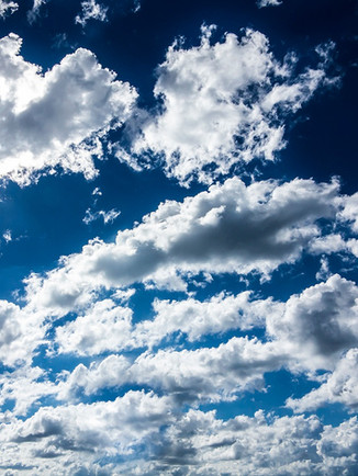 Australian Nature Images - Flora and Fauna - White Clouds in a Blue Sky
