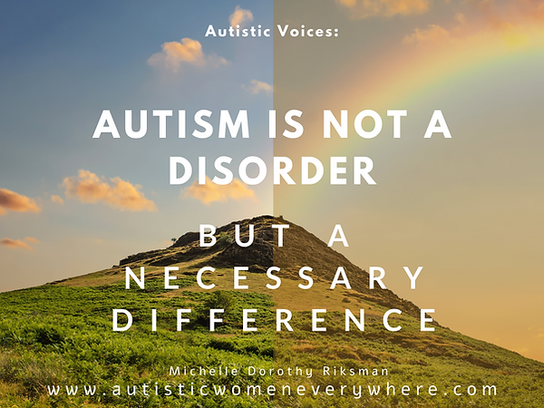 Autism is a necessary difference_