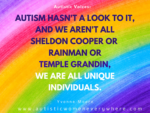 Autism Quotes about Autistic Women. Autism hasn't a look to it_