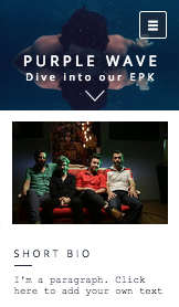Band website templates – EPK - Band