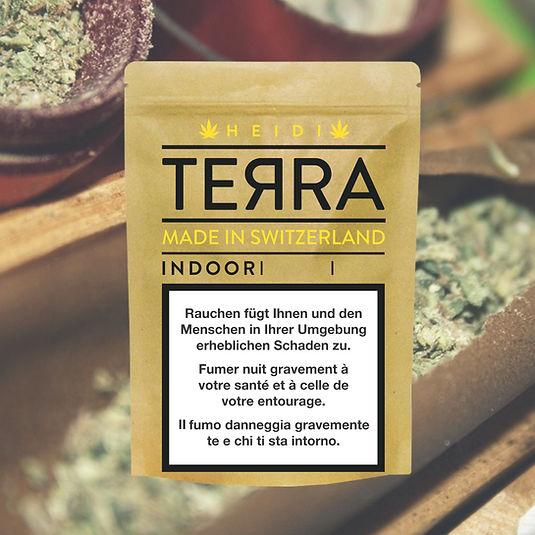 Tell Cbd verpackung mit Indoor Cannabis. Bestes Weed der Schweiz