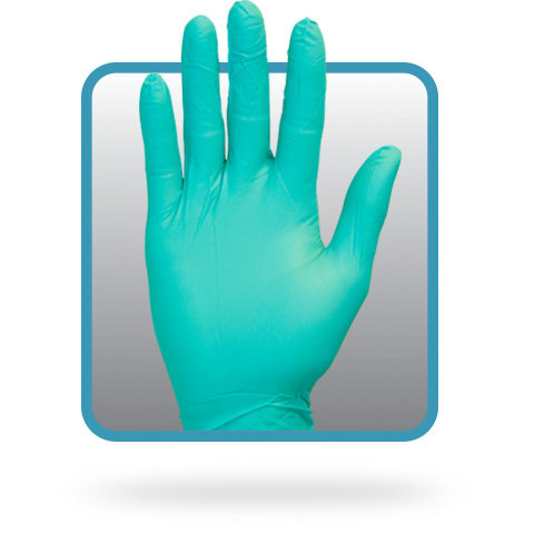 NITRILE UNLINED GREEN GLOVE