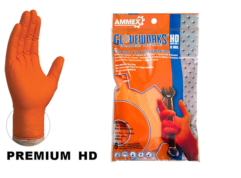 HEAVY DUTY  NITRILE GLOVE - 6PK
