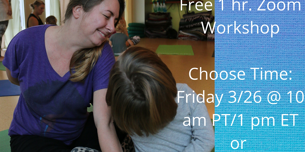 Free Online Workshop for Parents and Teachers!