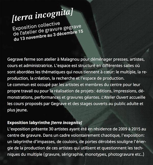 Terra Incognita - Paola Carbone