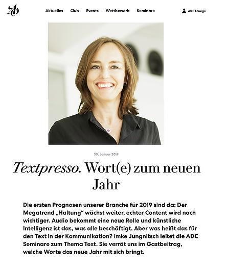 Imke Jungnitch, BOOST Seminare, Textpresso ADC