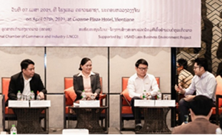 The Laos Business Environment Activity Provides Platform for SMEs to Talk Policy