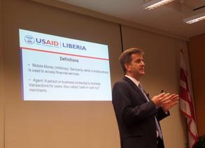 David Colvin Presents Mobile Money Work in Liberia at ICGFM