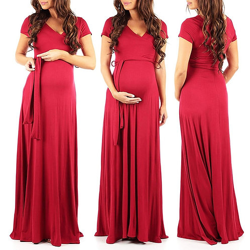 Red Photographic maxi dress