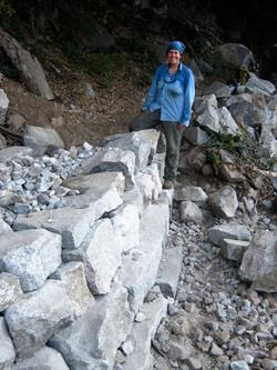 Rock Wall in Progress