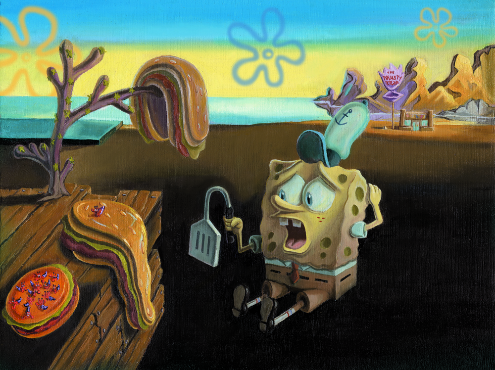 """Spongebob Dali Fine Art Project"""
