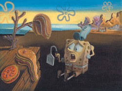 """Spongebob Dali Fine Art Project"""