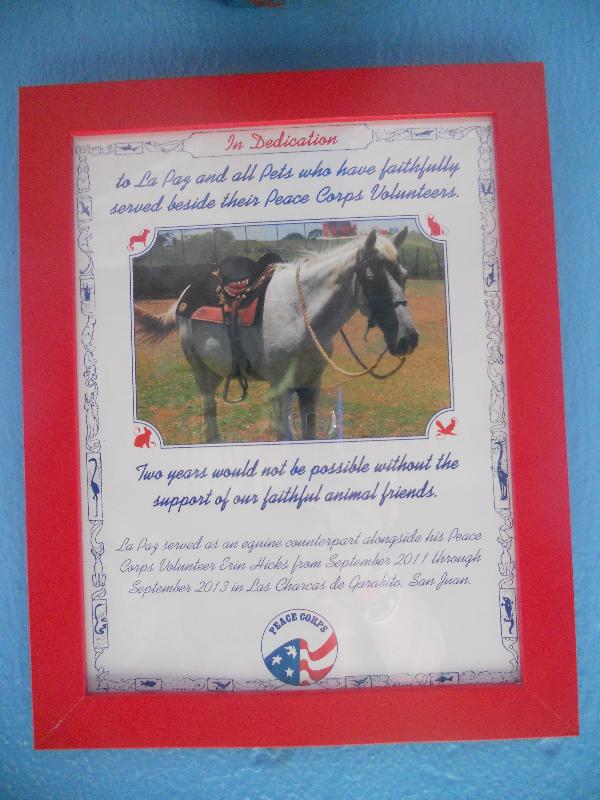 Plaque Dedicated to La Paz