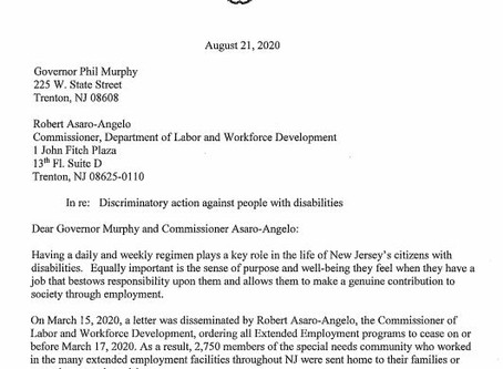 MORRIS COUNTY SURROGATE URGES GOVERNOR MURPHY AND LABOR COMMISSIONER TO RE-OPEN EMPLOYMENT PROGRAMS
