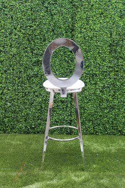 Silver Dior Barstool