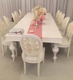 Louie Chair - White Rosette